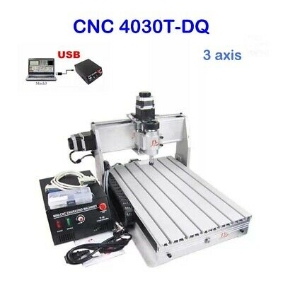 Usb Cnc Router Engraver Engraving Cutter 3 Axis 3040T-Dq 3 Ballscrew Crafts