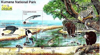 KUMANA-National-Park Souvenir Sheet Sri-Lanka Stamps Wildlife (Ceylon)