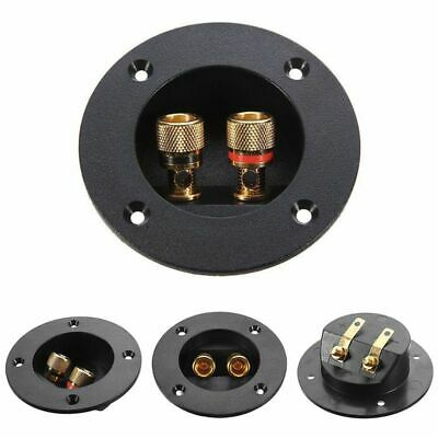 Gold Plated Plug Subwoofer Speaker Box Terminal Round Spring Connector Cup Black