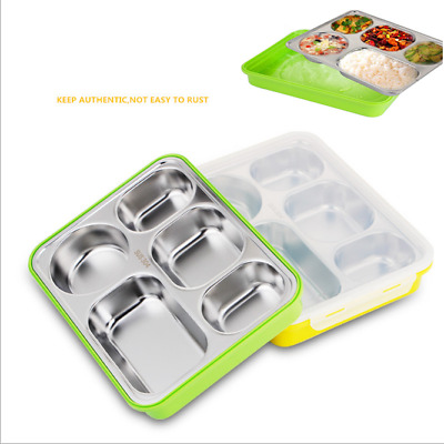 Bento Lunch Box Food Container School Picnic 5 Leakproof Compartments Portable