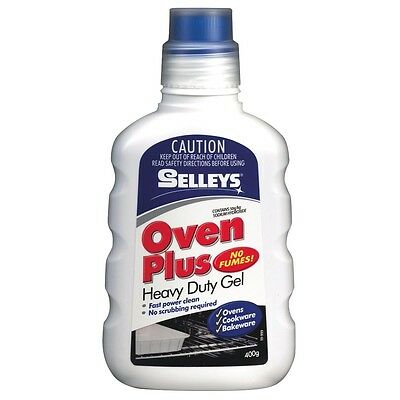 Selleys OVEN PLUS Heavy Duty Gel 400g Oven Cookware Bakeware Cleaner