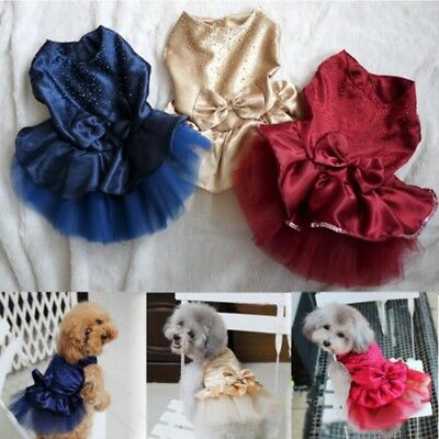 Pet Dog Princess Costume Bow Tutu Dress Puppy Chihuahua Tulle Skirt Cute Clothes