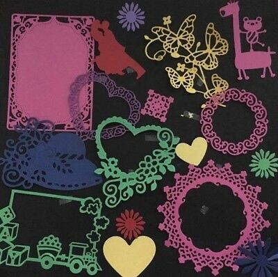 30 Mixed Die Cuts For Scrapbooking, Card Making, Paper Crafts