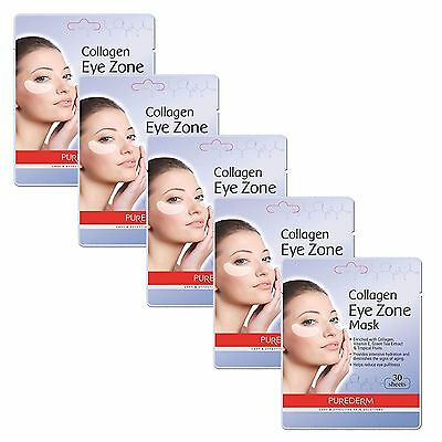 5Pack 150 Sheets Purederm Collagen Eye Zone Patches Mask Wrinkle Care_US STOCK