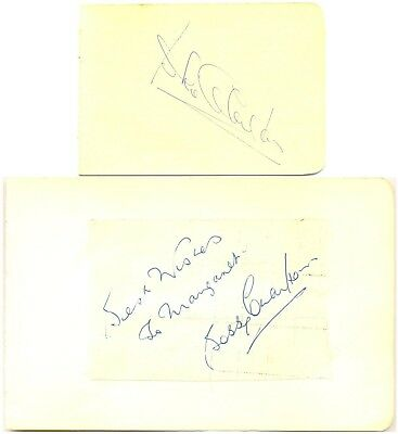 Bobby & Jack Charlton signed autograph album pages 1960s Manchester United Leeds