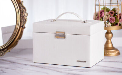 Large Jewellery Boxes Storage Organiser Girls Rings Necklaces Holder Travel Case