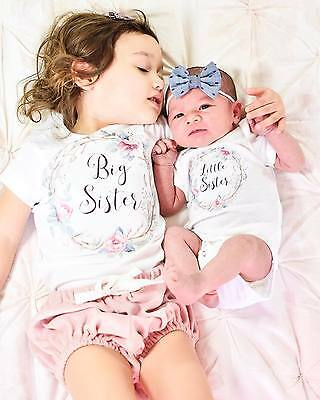 Baby Kid Girl Little Big Sister Cotton Clothes Jumpsuit Romper Outfits T Shirt P