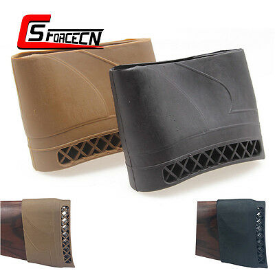 Tactical Rifle Shotgun Rubber Slip On Recoil Pad Gun Buttstock Protector Hunting