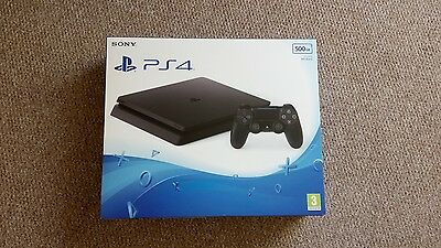 Sony PlayStation 4 Slim 500GB Matte Black Console Brand New Unopened