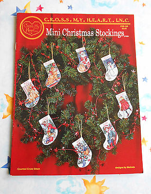 MINI  CHRISTMAS  STOCKINGS ~ Cross My Heart Counted Cross Stitch Booklet  GC