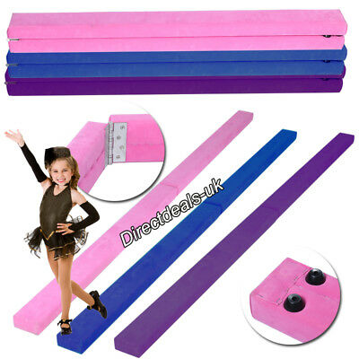 7FT Suede Folding Balance Beam Gymnastics Gym Training Equipment Hard Wearing UK