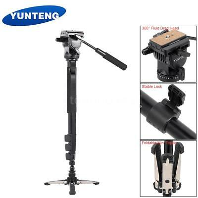 VCT-588 Extendable Monopod Detachable Video Tripod Stand Base & Fluid Drag Head