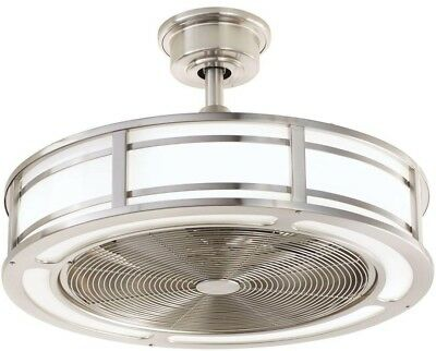 Ceiling Fan 23 in. LED Light 3-Speed Reversible Indoor/Outdoor Brushed Nickel