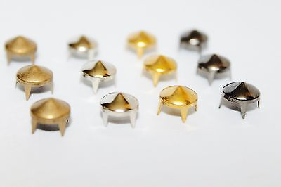 Spike Cone Claw Studs Rivets - Bag Belt Leather Craft - 6.5, 8 or 9mm - Low cone
