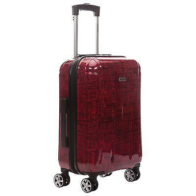 """Samsonite Carbon 21.5"""" 4-Wheeled Carry-On Luggage Red/Black"""
