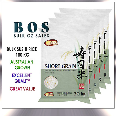 Bulk 100 Kg Sunrice Short Sushi Rice Free Same Day Delivery Metro Melb Only Bos