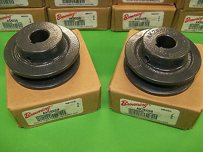 "Browning AK26X5/8 Pulley Sheave V Groove 5/8"" Bore NEW (Lot of 2)"