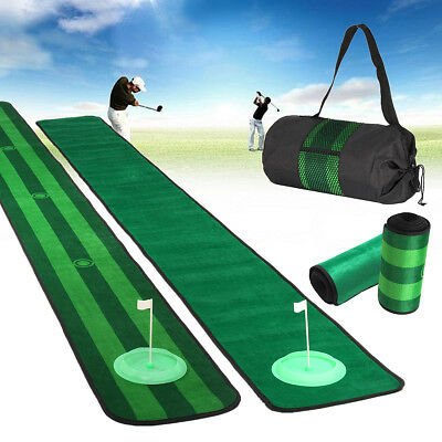 30x300cm Indoor Outdoor Golf Putting Practice Blanket Mat Golf Training Game