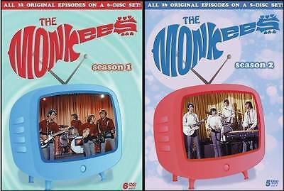 THE MONKEES - COMPLETE SEASON 1 & 2 (11 Disc set) - DVD -