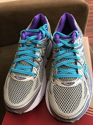 3806be43 SAUCONY WOMEN'S PROGRID Omni 6 blue white athletic shoes-5.5 White ...