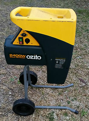 Ozito Silent Shredder 2400W Chipper Chopper Mulcher SSH-240