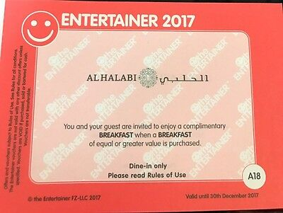 Al Halabi BOGOF Voucher Dubai Entertainer 2017