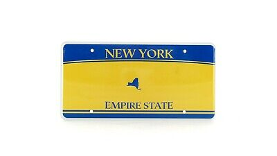 New York US USA License Plate Number Plate Embossed Custom Round Mounting Hole