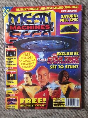 Mean Machines Sega Magazine Issue 18 1993 With Original Stickers