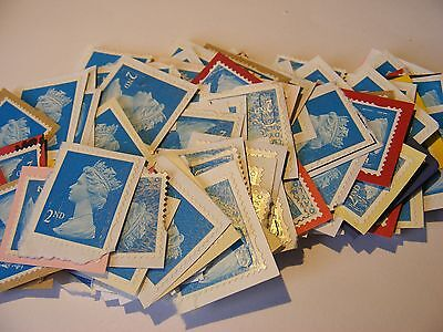 100 2nd class stamps unfranked (lot 738)
