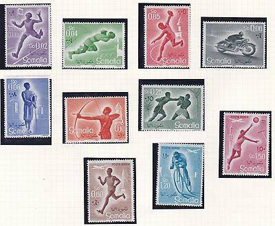 Somalia  1958 - 59  Sports Set Mnh