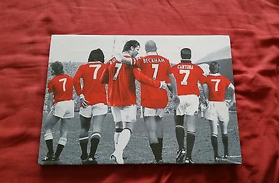 Manchester United Number 7s Canvas A2
