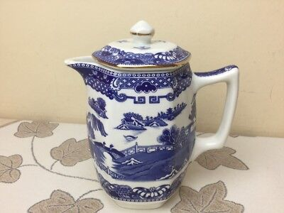 Vintage Wade Ringtons Blue Willow Lidded Hot Water Jug Mint Condition
