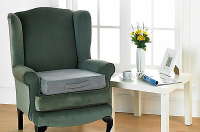 Grey Faux Suede Foam Filled Posture Booster Seat Cushions Chairs & Wheel Chairs