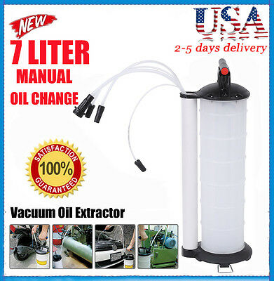 Oil Fluid Extractor 7L Manual Vacuum Fuel Petrol Pump Transfer Syphon Suction HP