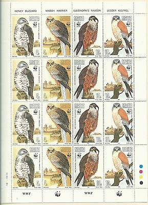 Malta 1991 Endangered Species sheetlet of 4 sets SG898-901, mnh, Cat.£40+.