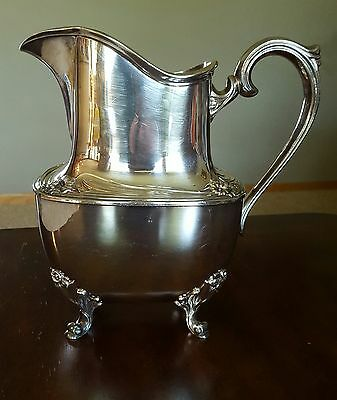 Daffodil Silverplate Water Pitcher Excellent 9917 by 1847 Rogers Bros