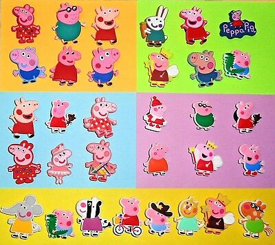 Peppa Pig  Characters Shoe Charms Buttons Shoe Pins for Your Crocs like Jibbitz