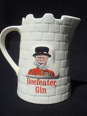 ~ Vintage Beefeater Gin Ceramic Pitcher ~ England ~