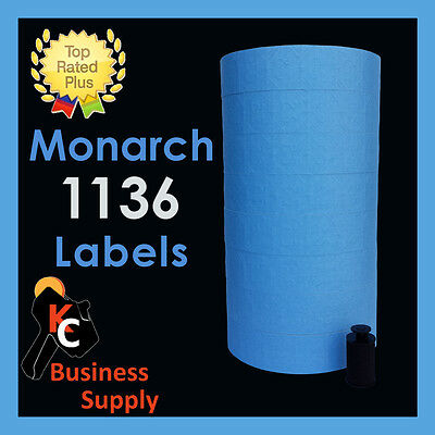 Monarch 1136 price gun labels BLUE, ink roller included - two line price labels