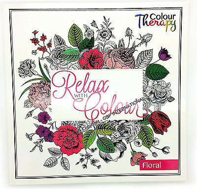 Adult Colouring Therapy Anti-Stress Adult Colouring Book Relax Owl 60 Floral