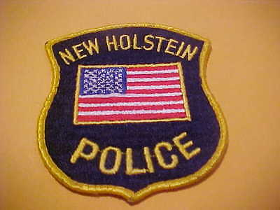New Holstein  Wisconsin Police Patch Shoulder Size Used Scarce