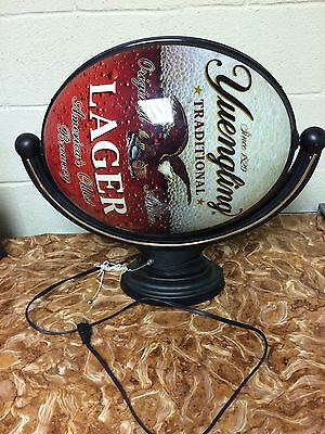 yuengling sign lighted revolving beer globe