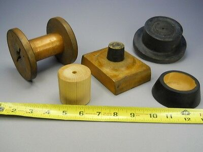 * Two Foundry Molds, A Copper Lined Wood Spool & Two Misc. Wood Objects *