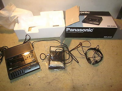 Panasonic RR-830 Dictation Standard Cassette Transcriber Foot Pedal Box MORE $$