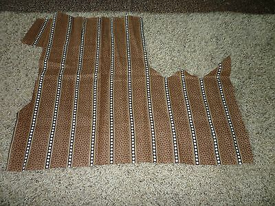 Lot of 3 Antique 1800's calico fabric brown cotton