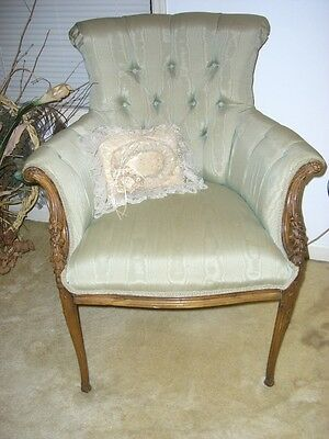 Pair of Antique French Country Chic Bergere Chairs
