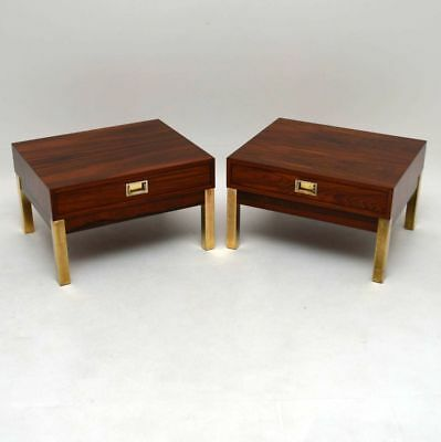 PAIR OF RETRO ROSEWOOD SIDE TABLES VINTAGE 1960's