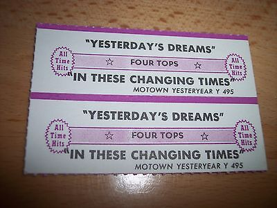 """2 Four Tops Yesterday's Dream Jukebox Title Strips CD 7"""" 45RPM Records"""