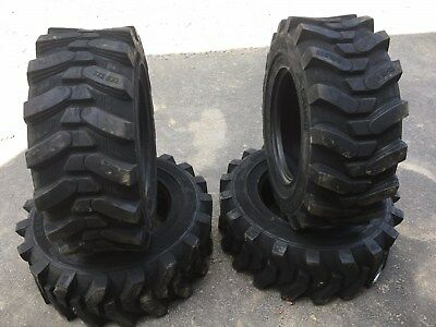 4 NEW Deestone 12-16.5 Skid Steer Tires for Bobcat & others 12X16.5 -12 PLY