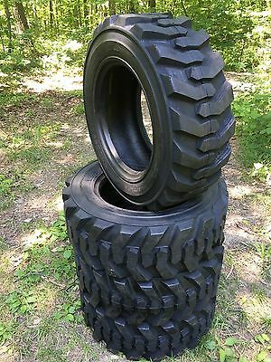 4  10X16.5 Deestone Skid Steer Tires -10-16.5-10 PLY- for Bobcat and more